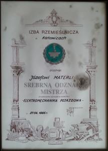 srebrna odznaka mistrza elektromechanika pojazdowa