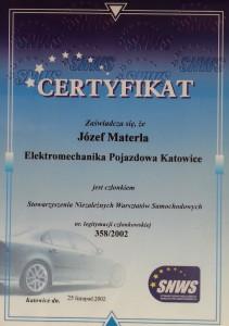 certyfikat niezaleznych warsztatow samochodowych dla serwisu klimatyzacji samochodowej