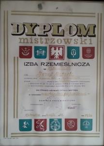 dyplom mistrzowski materla jozef mechanika samochodowa